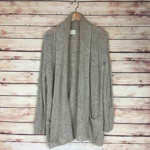 Urban Outfitters Long Cardigan Tan Open Front L